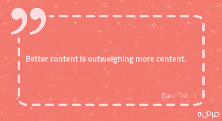 Better content is outweighing more content