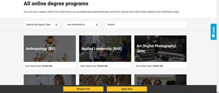 البرامج المتاحة للتعلم عن بُعد في جامعة أريزونا