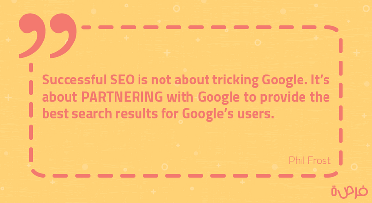 Successful SEO is not about tricking Google. It's about PARTNERING with Google to provide the best search results for Google's users